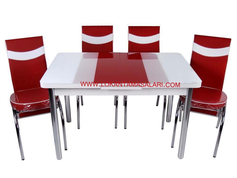 kırmızı masa sandalye takımları
