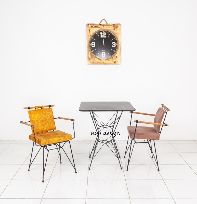 cafe restaurant metal masa sandalye takımı